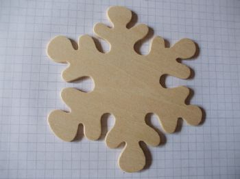 Birch Ply Wooden Snowflake Wood Craft Shape
